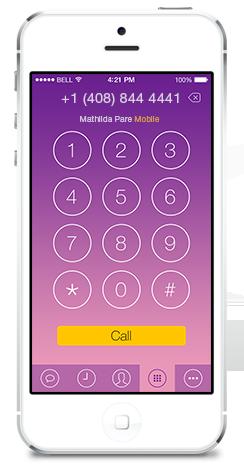 концепт Viber для iPhone в стиле iOS 7