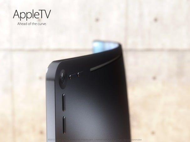 телевизор v изогнутым дисплеем Apple TV или iTV