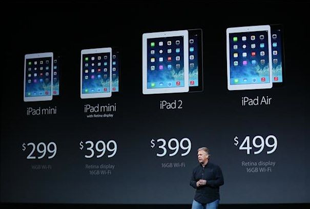 apple ipad air ipad mini 2 price