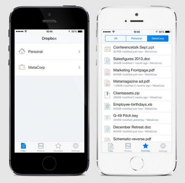 Dropbox анонсировала обновление клиента для iOS 7