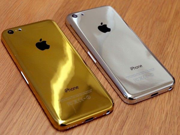 серебряные и золотые корпуса для iPhone 5c