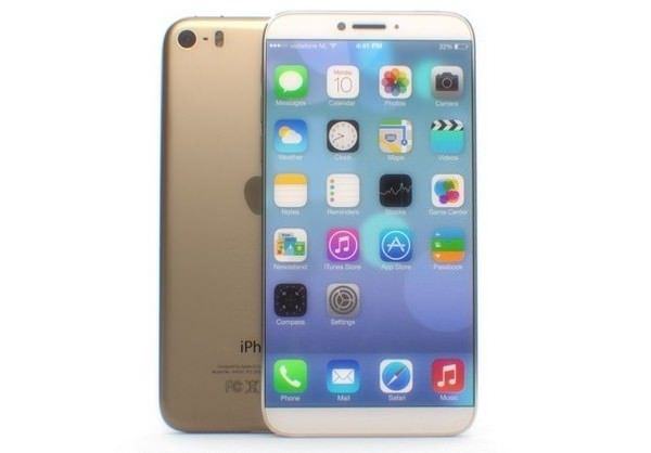 Концепт 4,8-дюймового золотистого iPhone 6