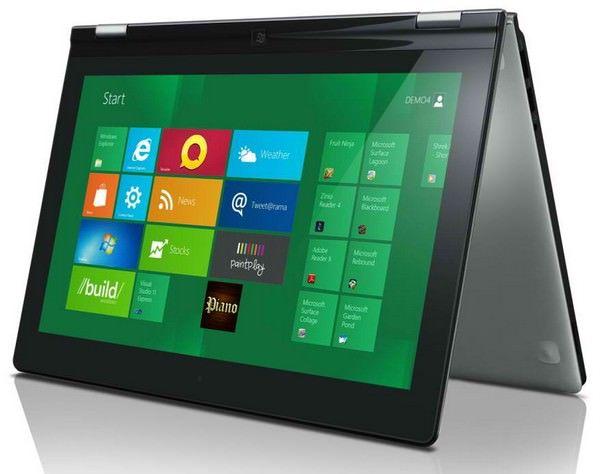 Ноутбуки с сенсорными экранами завоевывают популярность