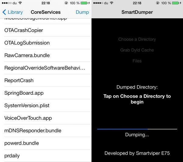 SmartDumper - дамп файловой системы iOS