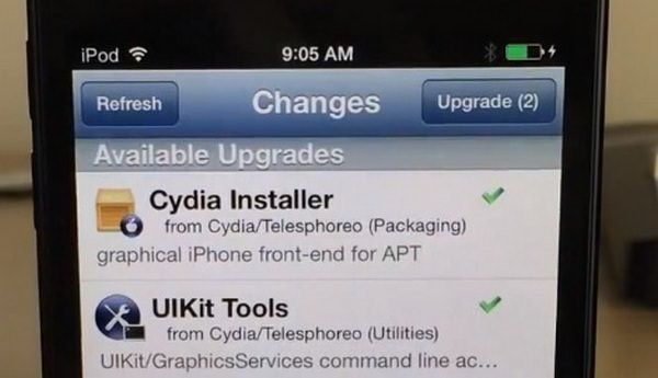 Обновление Cydia