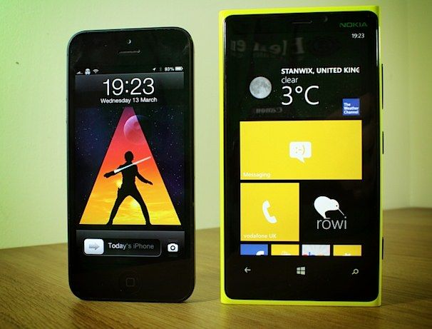 Lumia vs iPhone 5