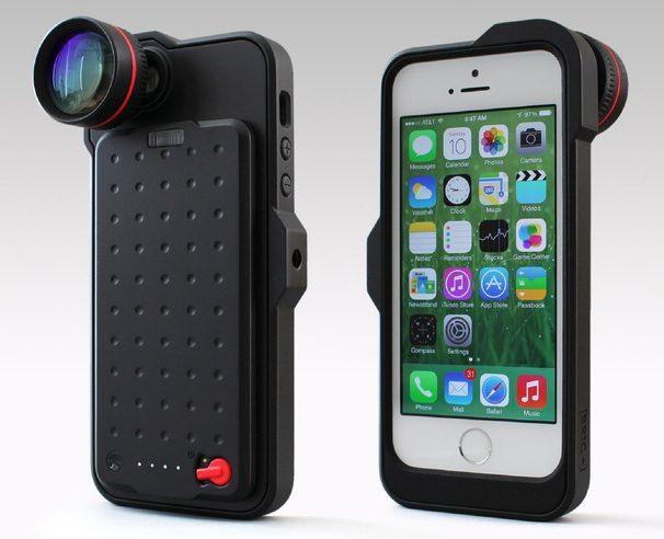чехол с объективом для iPhone 5s