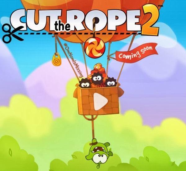 Официальный релиз Cut the Rope 2 Unexpected Adventure
