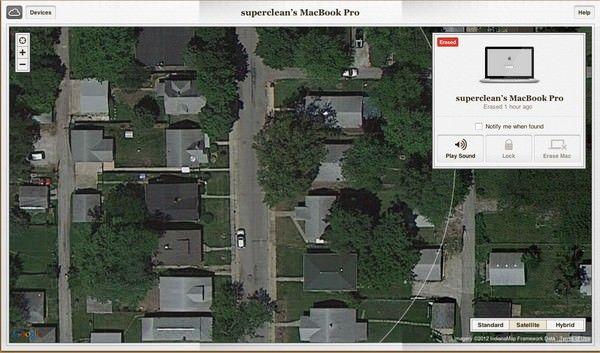 Сервис Find My Mac помог выследить убийц
