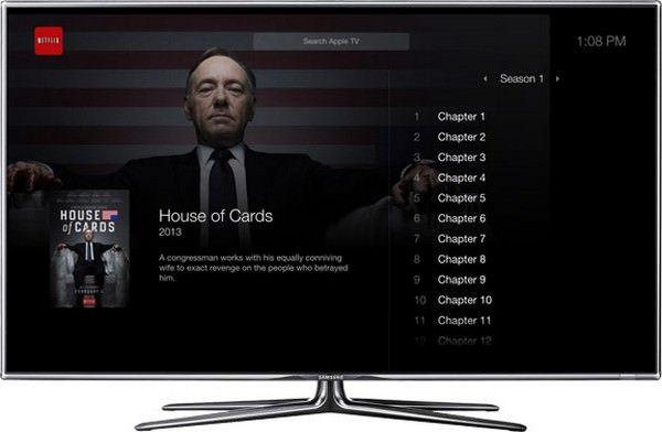 Интерфейс iTV в минималистическом стиле Джонни Айва