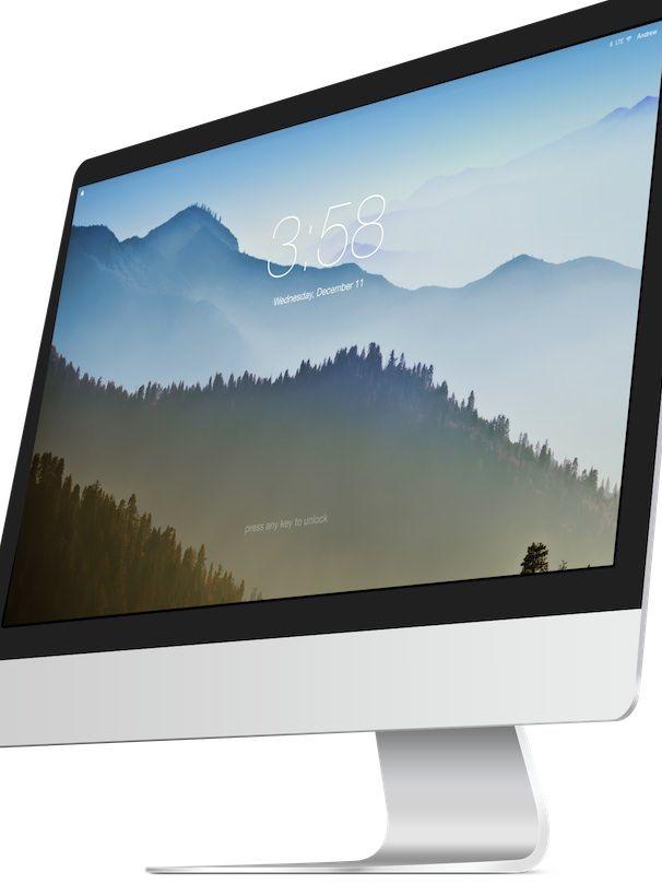 экран блокировки в OS X 11