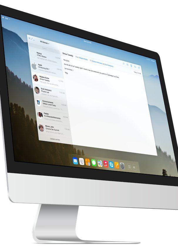 OS X 11 концепт imac 2013