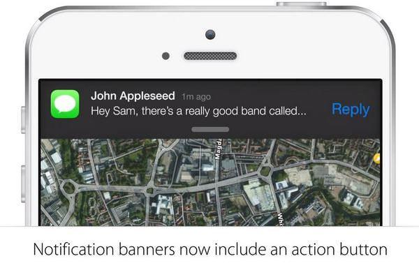 Интерактивные уведомления в iOS 8