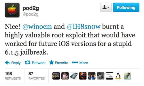Pod2g обвинил iH8sn0w и Winocm