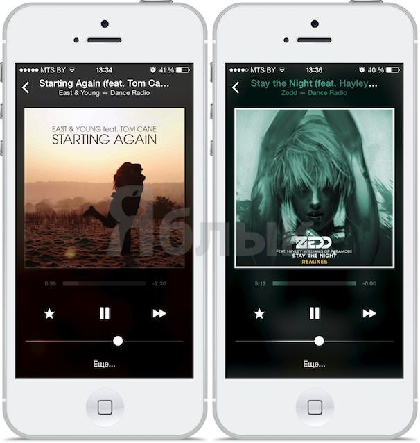 пульт ДУ itunes radio ios 7