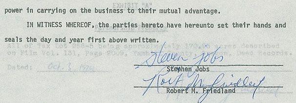 подпись Стива Джобса на аукционе