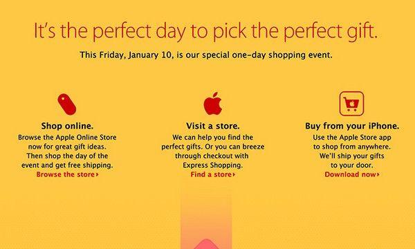 Apple организует праздничную распродажу