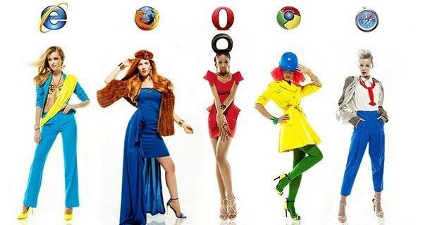 Если бы браузеры были девушками