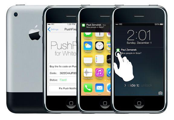 iOS 7 на iphone 2g iphone 3g