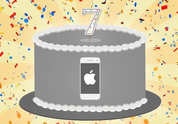 7 лет iPhone инфографика