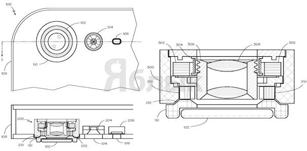 Apple патенты новый линзы для iPhone