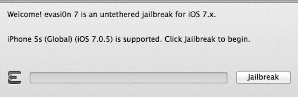 джейлбрейк iOS 7.0.5