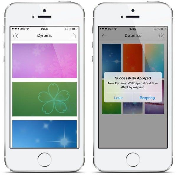 новые динамические обои в iOS 7