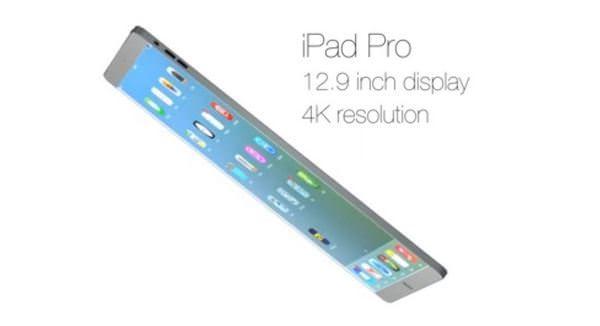 Концепт ультратонкого 12,9-дюймового iPad Pro