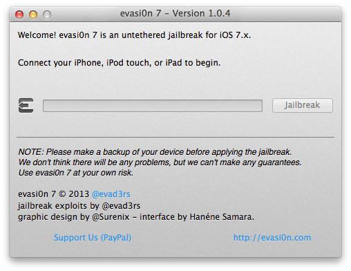 Evad3rs устраняют уязвимости джейлбрейка iOS 7