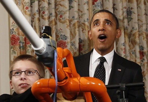 Джой Хади и Барак Обама intel