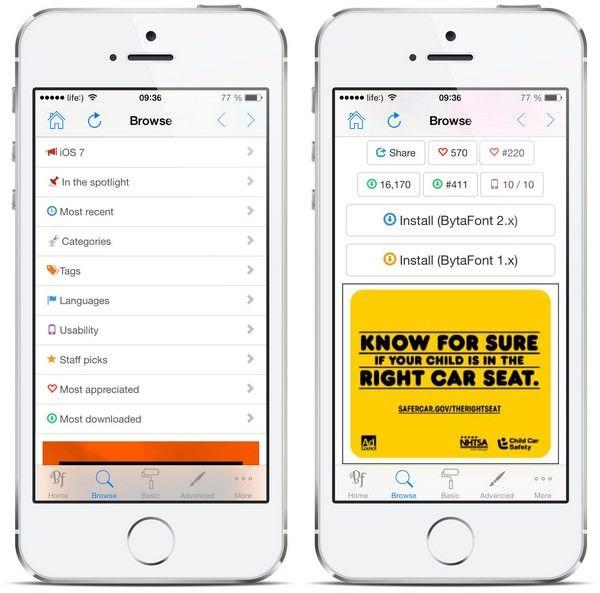 Как изменить стандартный шрифт iOS 7