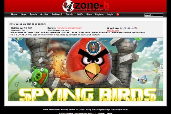 Хакеры взломали сайт Angry Birds