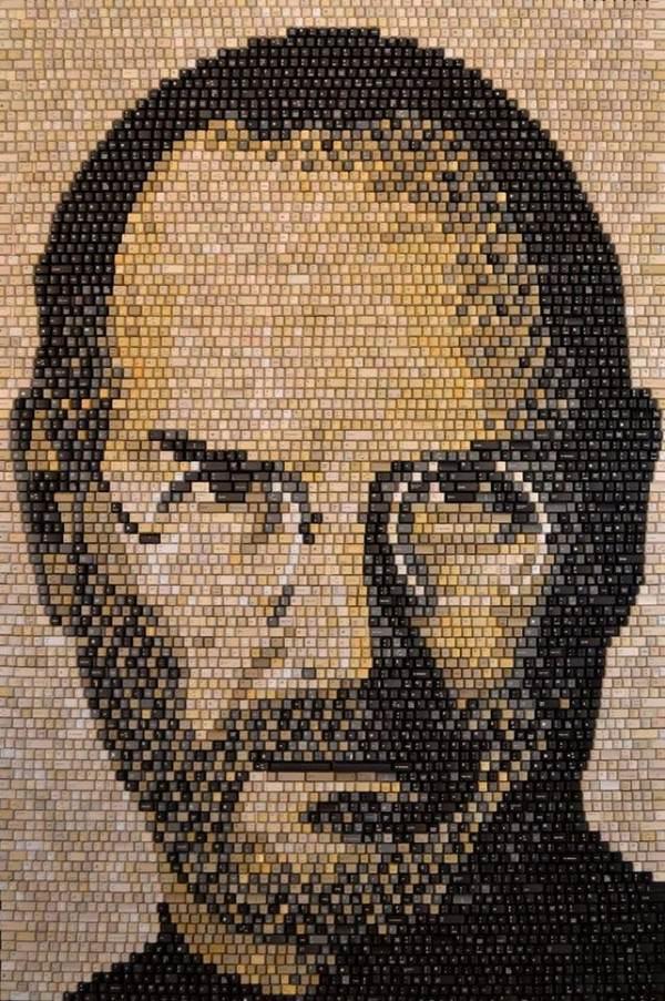 Портрет Стива Джобса из 5892 клавиатурных клавиш