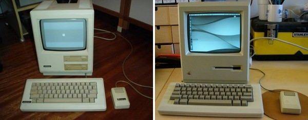 Unitron 512 (слева) Apple Macintosh 512R (справа)