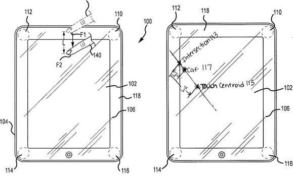 apple patent force sensor