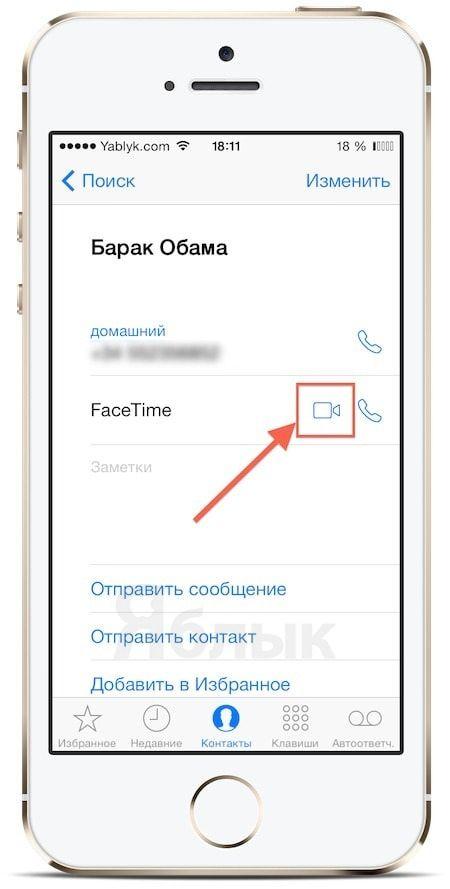 facetime голосовой вызов в iPhone
