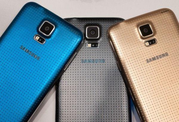 Сравнение размеров Galaxy S5