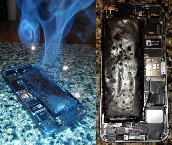 фотографии самовозгорания iPhone 5s