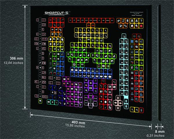 SHORTCUT-S - клавиатура для пользователей Photoshop