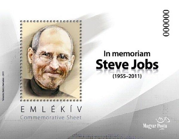марку с изображением Стива Джобса