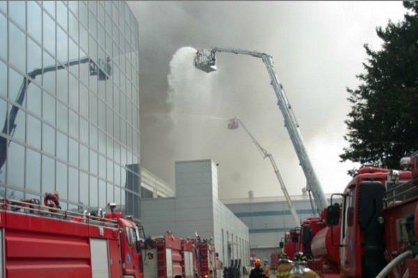 сгорел завод по производству Galaxy S5