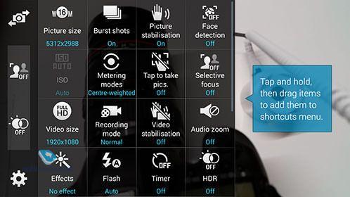 возможности камеры Samsung Galaxy S5