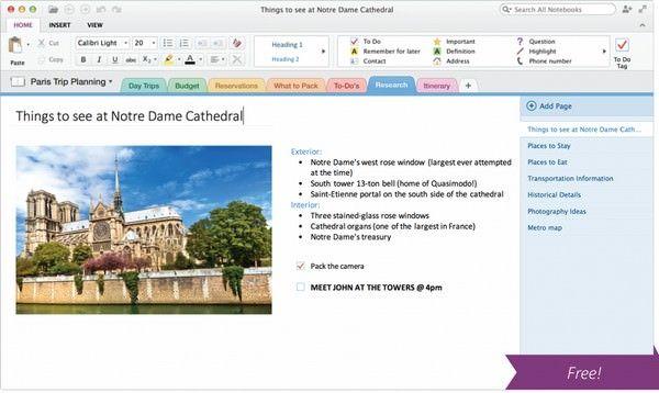 OneNote - конкурент Evernote и Диск Google