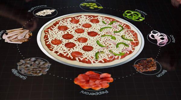 """""""Умный"""" стол для пиццерии от Pizza Hut"""