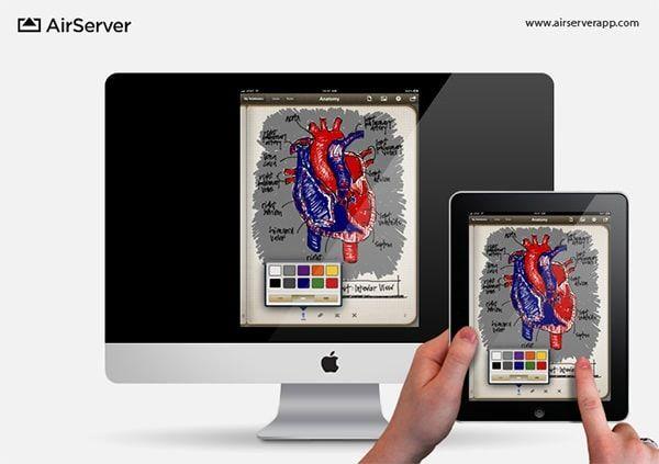 AirServer для захвата видео с экрана iPad