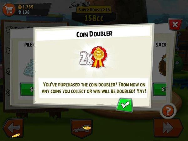 Angry Birds Go! coin doubler