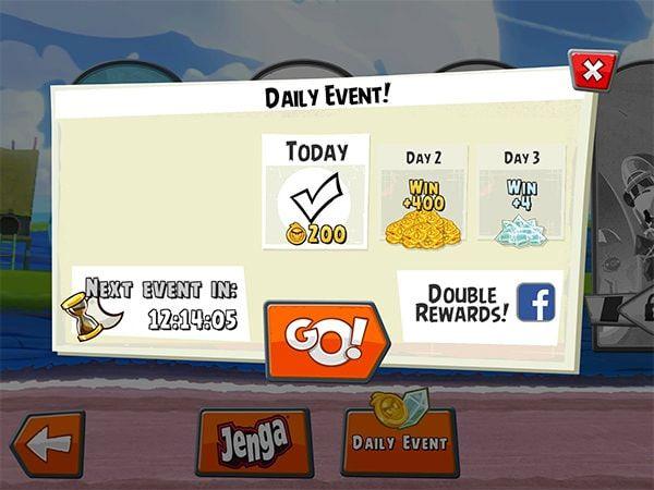 Angry Birds Go! событие дня