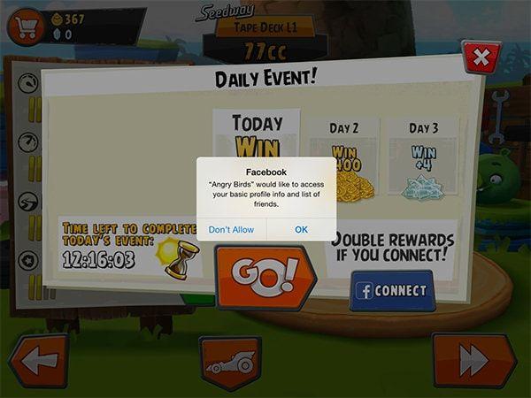Angry Birds Go! facebook