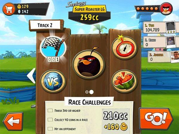 Angry Birds Go! не пропускайте уровни