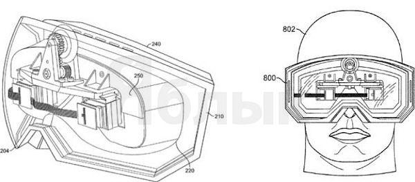 очки виртуальной реальности патент Apple